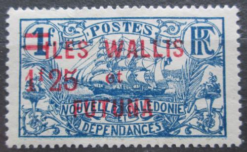 Poštovní známka Wallis a Futuna 1926 Plachetnice pøetisk Mi# 36