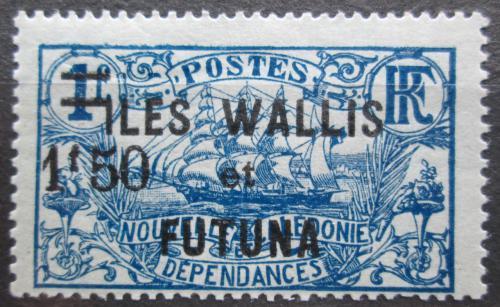 Poštovní známka Wallis a Futuna 1927 Plachetnice pøetisk Mi# 37