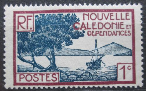 Poštovní známka Nová Kaledonie 1928 Plachetnice na pobøeží Mi# 136