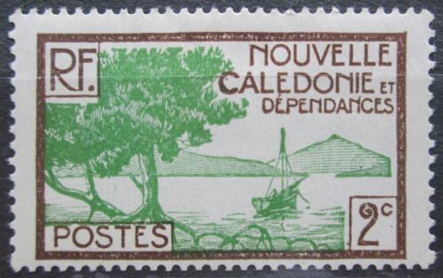 Poštovní známka Nová Kaledonie 1928 Plachetnice na pobøeží Mi# 137