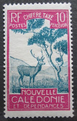 Poštovní známka Nová Kaledonie 1928 Sambar indický, doplatní Mi# 22