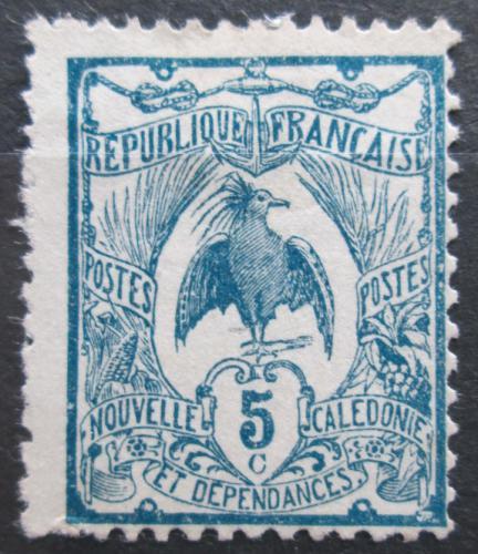 Poštovní známka Nová Kaledonie 1922 Kagu chocholatý Mi# 111