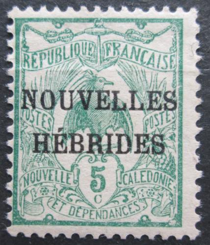 Poštovní známka Nové Hebridy 1906 Kagu chocholatý pøetisk Mi# 10 Kat 6€