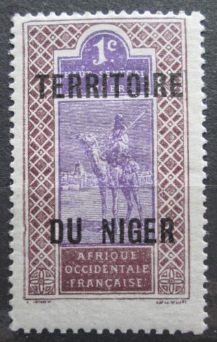Poštovní známka Niger 1921 Tuareg na velbloudovi Mi# 1