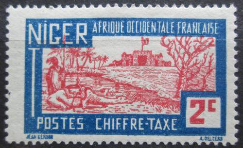 Poštovní známka Niger 1927 Pevnost, doplatní Mi# 9