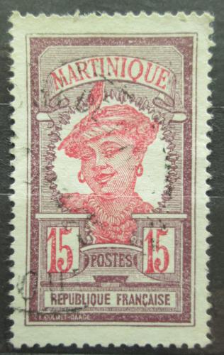 Poštovní známka Martinik 1917 Domodkynì Mi# 61