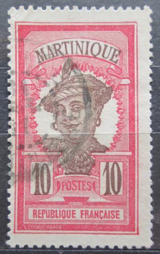 Poštovní známka Martinik 1925 Domorodkynì Mi# 86