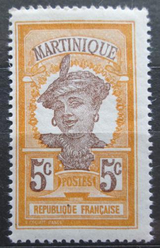 Poštovní známka Martinik 1922 Domorodkynì Mi# 84