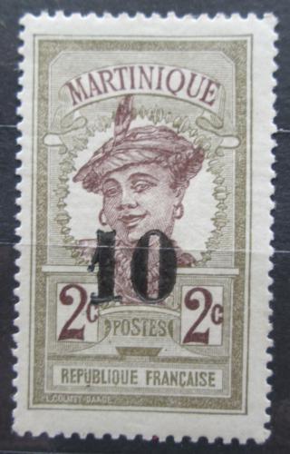 Poštovní známka Martinik 1920 Domorodkynì pøetisk Mi# 79