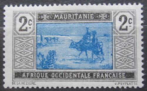 Poštovní známka Mauritánie 1913 Obchodní karavana Mi# 18