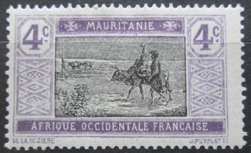 Poštovní známka Mauritánie 1913 Obchodní karavana Mi# 19