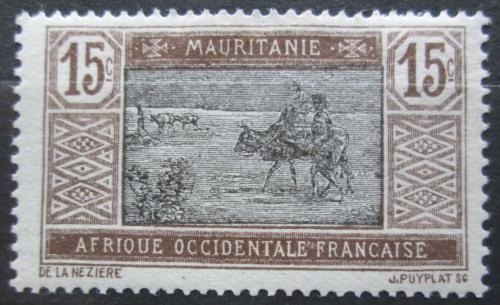 Poštovní známka Mauritánie 1917 Obchodní karavana Mi# 22