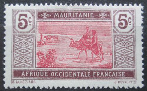Poštovní známka Mauritánie 1922 Obchodní karavana Mi# 46