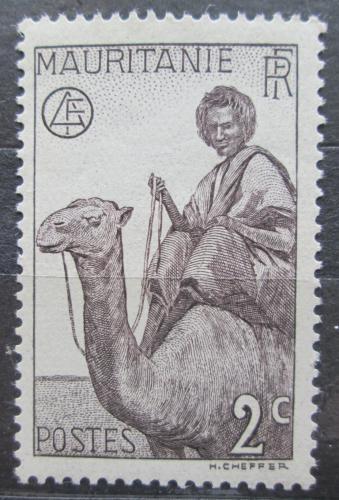 Poštovní známka Mauritánie 1938 Jezdec na velbloudovi Mi# 78