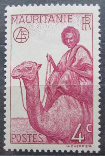 Poštovní známka Mauritánie 1938 Jezdec na velbloudovi Mi# 80