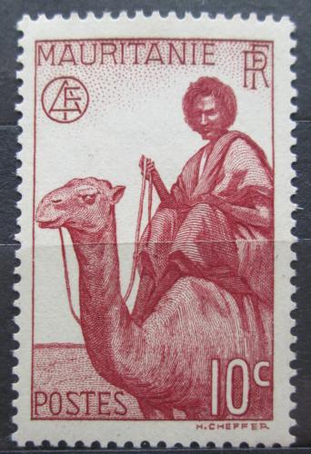 Poštovní známka Mauritánie 1938 Jezdec na velbloudovi Mi# 82