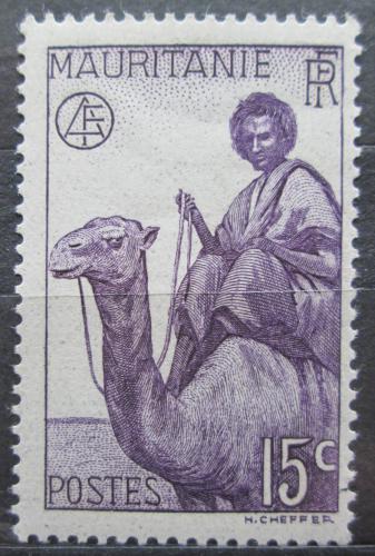 Poštovní známka Mauritánie 1938 Jezdec na velbloudovi Mi# 83