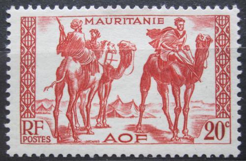 Poštovní známka Mauritánie 1938 Váleèníci na velbloudech Mi# 84