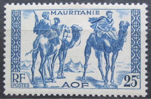 Poštovní známka Mauritánie 1938 Váleèníci na velbloudech Mi# 85