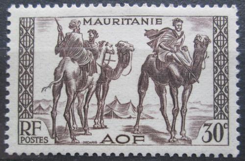 Poštovní známka Mauritánie 1938 Váleèníci na velbloudech Mi# 86