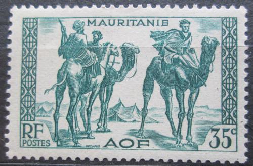 Poštovní známka Mauritánie 1938 Váleèníci na velbloudech Mi# 87