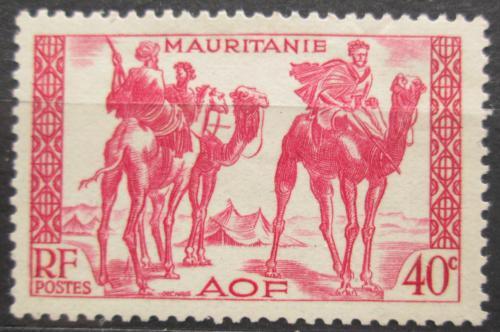 Poštovní známka Mauritánie 1940 Váleèníci na velbloudech Mi# 110