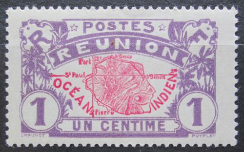 Poštovní známka Reunion 1907 Mapa ostrova Mi# 56