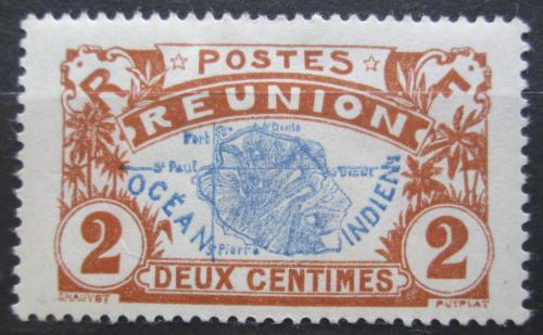 Poštovní známka Reunion 1907 Mapa ostrova Mi# 57