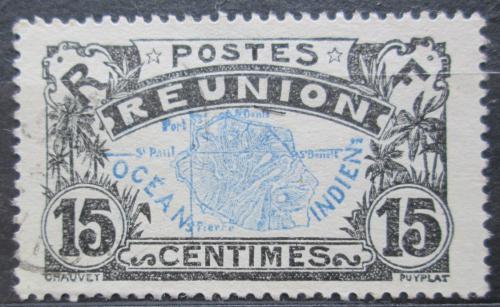 Poštovní známka Reunion 1917 Mapa ostrova Mi# 61