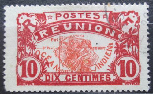 Poštovní známka Reunion 1926 Mapa ostrova Mi# 92
