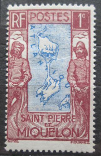 Poštovní známka St. Pierre a Miquleon 1932 Mapa Mi# 133