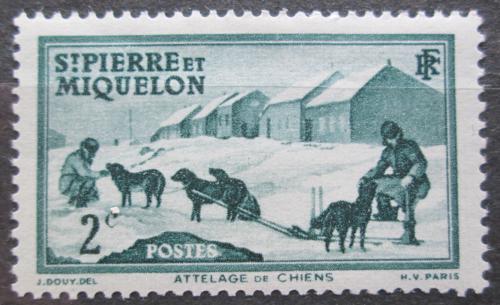 Poštovní známka St. Pierre a Miquleon 1938 Psí spøežení Mi# 170