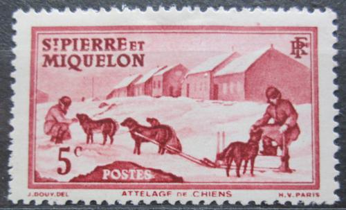 Poštovní známka St. Pierre a Miquleon 1938 Psí spøežení Mi# 173