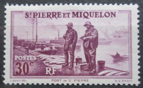 Poštovní známka St. Pierre a Miquleon 1938 Pøístav St. Pierre Mi# 178