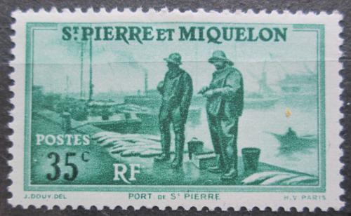 Poštovní známka St. Pierre a Miquleon 1938 Pøístav St. Pierre Mi# 179