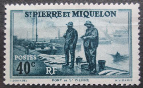 Poštovní známka St. Pierre a Miquleon 1940 Pøístav St. Pierre Mi# 199