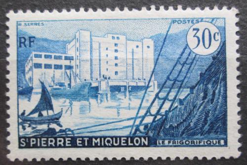 Poštovní známka St. Pierre a Miquleon 1956 Pøístav St. Pierre Mi# 375