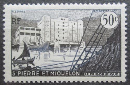 Poštovní známka St. Pierre a Miquleon 1956 Pøístav St. Pierre Mi# 376
