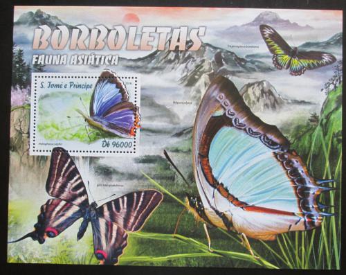 Poštovní známka Svatý Tomáš 2016 Asijští motýli Mi# Block 1200 Kat 10€