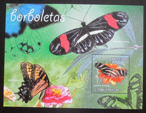 Poštovní známka Svatý Tomáš 2010 Motýli Mi# Block 786 Kat 12€