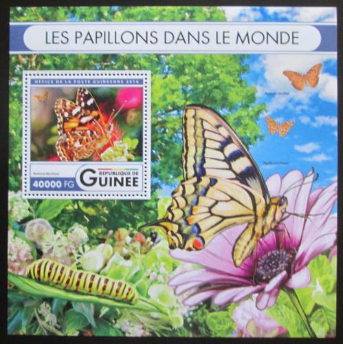 Poštovní známka Guinea 2016 Motýli Mi# Block 2681 Kat 16€