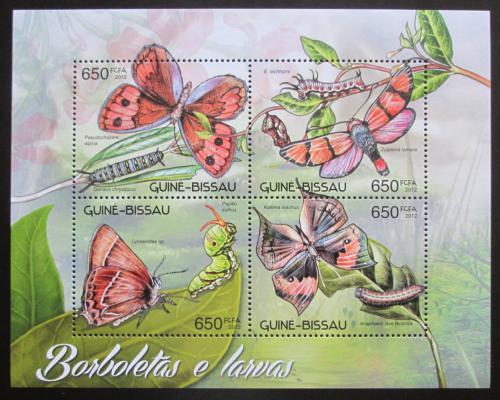Poštovní známky Guinea-Bissau 2012 Motýli Mi# 6182-85 Kat 10€