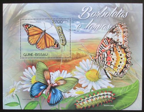 Poštovní známka Guinea-Bissau 2012 Motýli Mi# Block 1095 Kat 10€