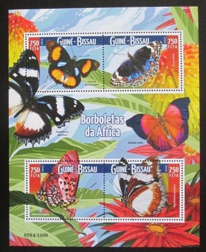Poštovní známky Guinea-Bissau 2015 Motýli Mi# 8064-67 Kat 14€