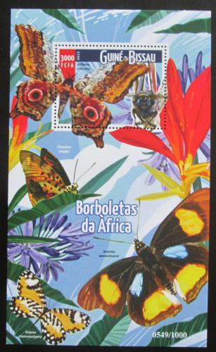 Poštovní známka Guinea-Bissau 2015 Motýli Mi# Block 1403 Kat 13€