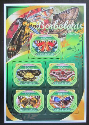 Poštovní známky Guinea-Bissau 2016 Motýli Mi# 8907-11 Kat 11€