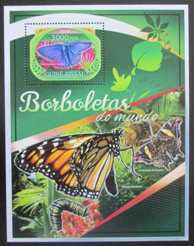 Poštovní známka Guinea-Bissau 2016 Motýli Mi# Block 1540 Kat 11€