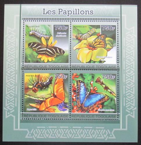 Poštovní známky Togo 2011 Motýli Mi# 3899-3902 Kat 12€