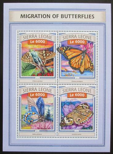 Poštovní známky Sierra Leone 2016 Motýli Mi# 7778-81 Kat 11€