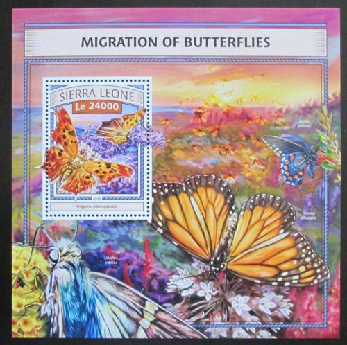 Poštovní známka Sierra Leone 2016 Motýli Mi# Block 1088 Kat 11€